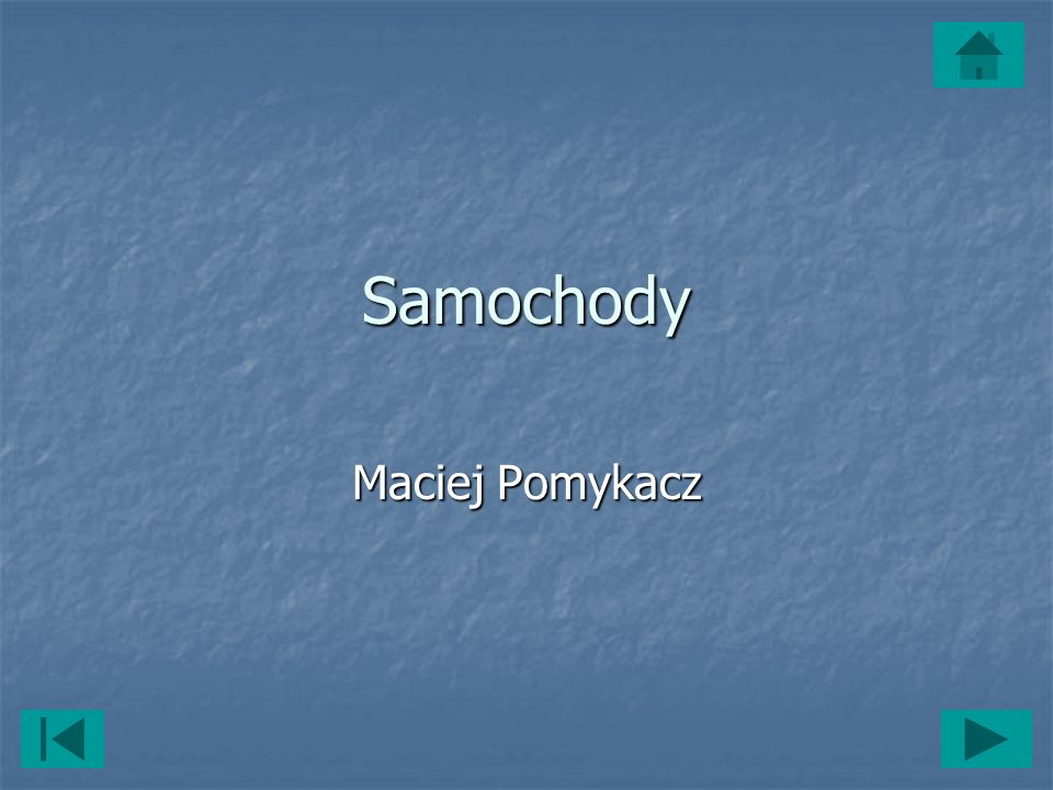 Samochody Maciej Pomykacz