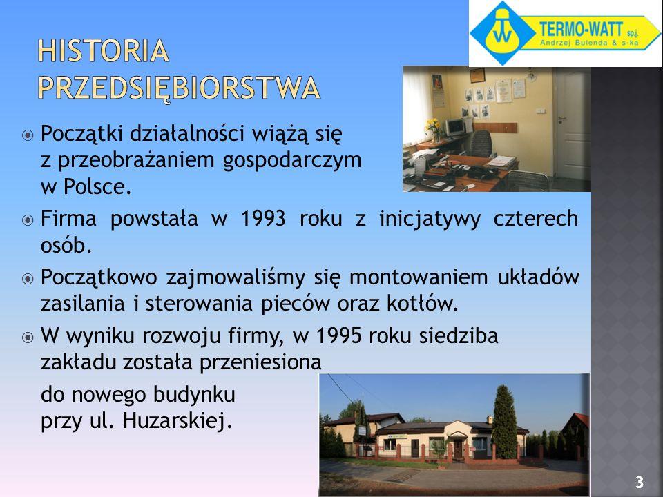 Początki działalności wiążą się z przeobrażaniem gospodarczym w Polsce. Firma powstała w 1993 roku z inicjatywy czterech osób. Początkowo zajmowaliśmy
