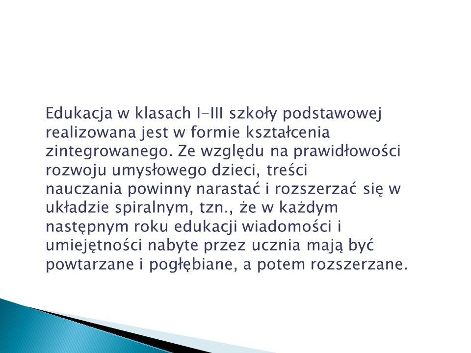 elementy edukacji medialnej będą realizowane w ramach wszystkich zajęć; edukacja ekologiczna i prozdrowotna będzie realizowana przede wszystkim w ramach zajęć z przyrody i wychowania fizycznego; wychowania do życia w społeczeństwie – w ramach przedmiotów: historia i społeczeństwo, język polski, plastyka, muzyka.