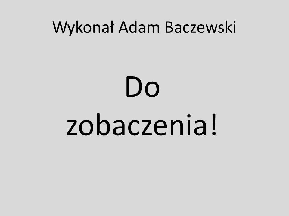 Wykonał Adam Baczewski Do zobaczenia!