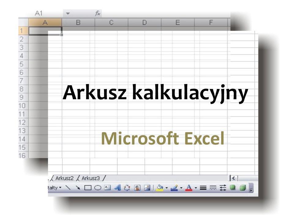 Arkusz kalkulacyjny Microsoft Excel