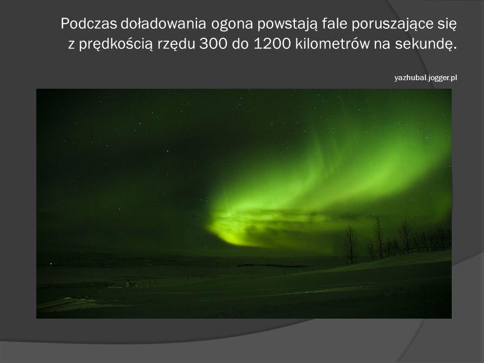 Podczas doładowania ogona powstają fale poruszające się z prędkością rzędu 300 do 1200 kilometrów na sekundę. yazhubal.jogger.pl