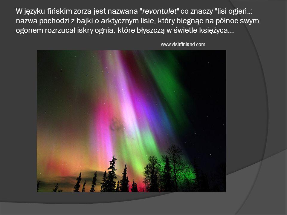 W języku fińskim zorza jest nazwana