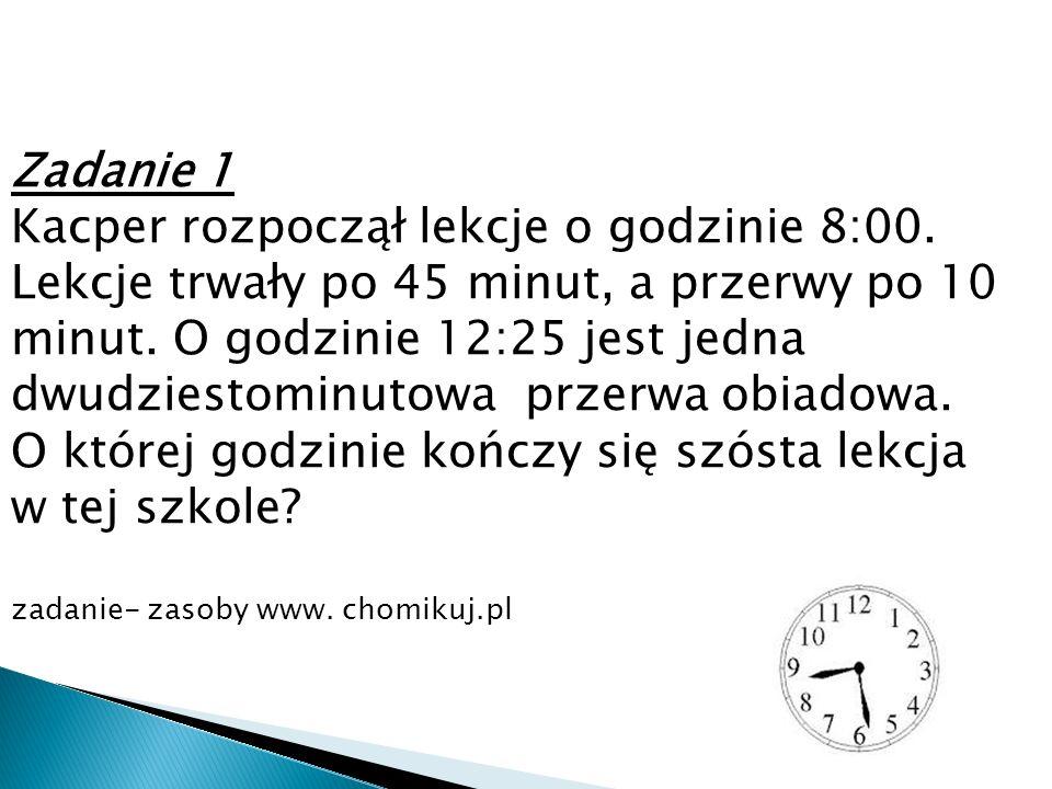 Zadanie 2 Pociąg przejeżdża trasę z Wrocławia do Krakowa w ciągu 4 godzin i 50 minut.