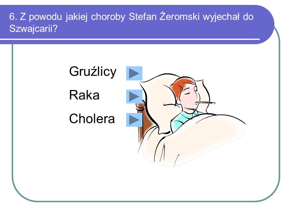 5. Gdzie Stefan Żeromski spędził szkolne lata? W Śląsku W Warszawie W Kielcach