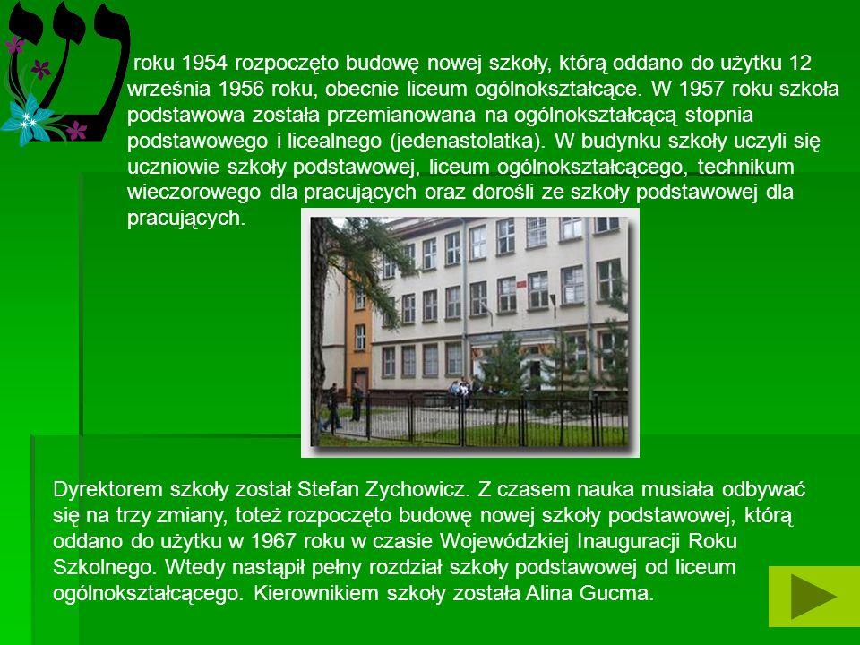 HISTORIA oczątki szkolnictwa na terenie Poniatowej sięgają roku 1949 kiedy władze oświatowe podjęły decyzję w sprawie utworzenia szkoły podstawowej. Z