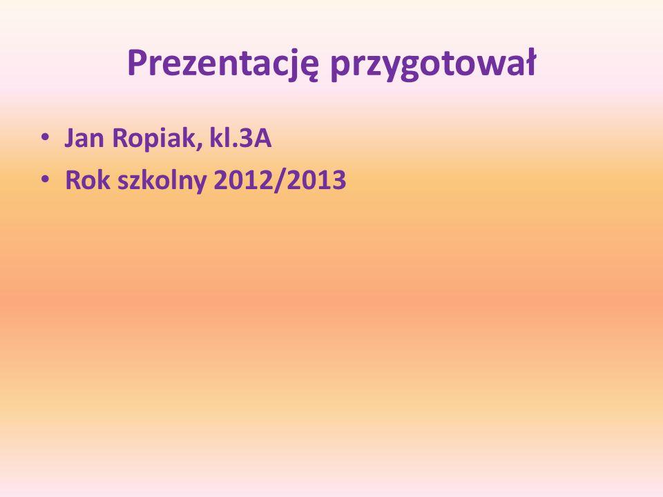 Prezentację przygotował Jan Ropiak, kl.3A Rok szkolny 2012/2013