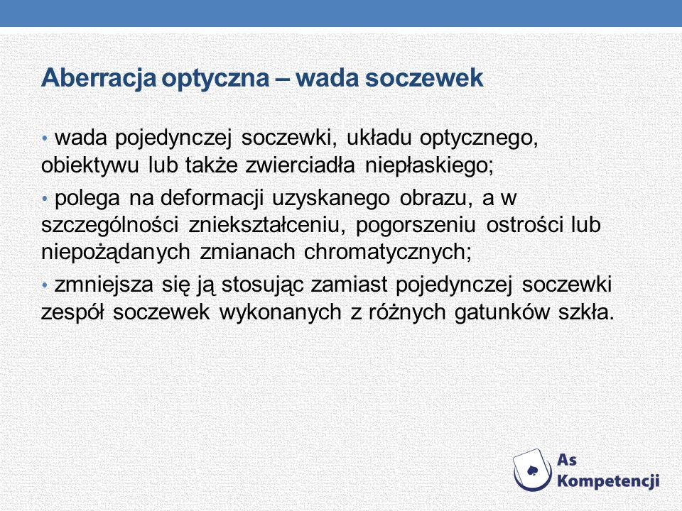 Aberracja optyczna – wada soczewek wada pojedynczej soczewki, układu optycznego, obiektywu lub także zwierciadła niepłaskiego; polega na deformacji uz