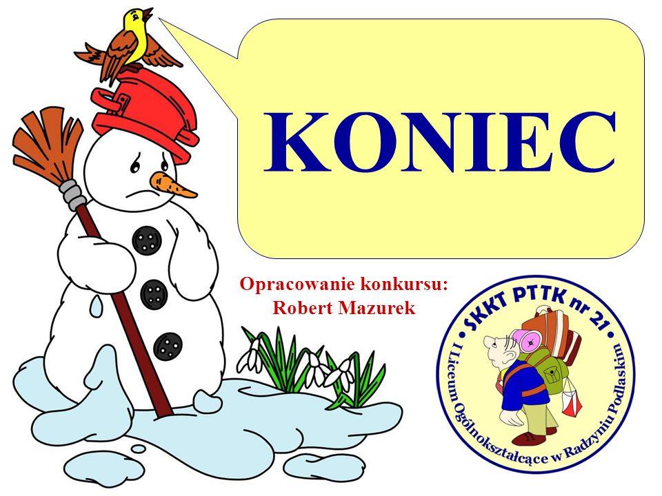 KONIEC Opracowanie konkursu: Robert Mazurek