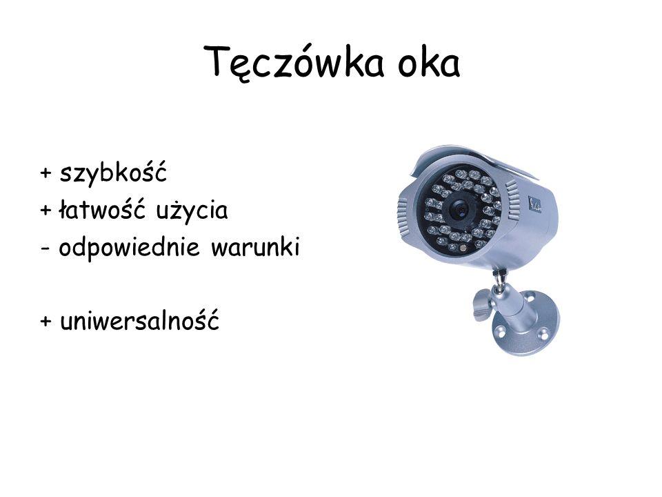 Tęczówka oka + szybkość + łatwość użycia - odpowiednie warunki + uniwersalność