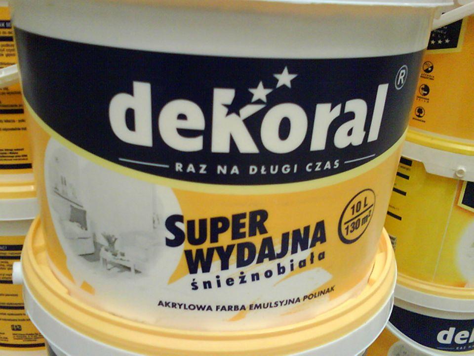 FARBY Substancje barwiące = PIGMENTYPIGMENTY spoiwowypełniacz rozpuszczalnik i rozcieńczacz powiększa powierzchnię zajmowaną przez pigment emulsje pol