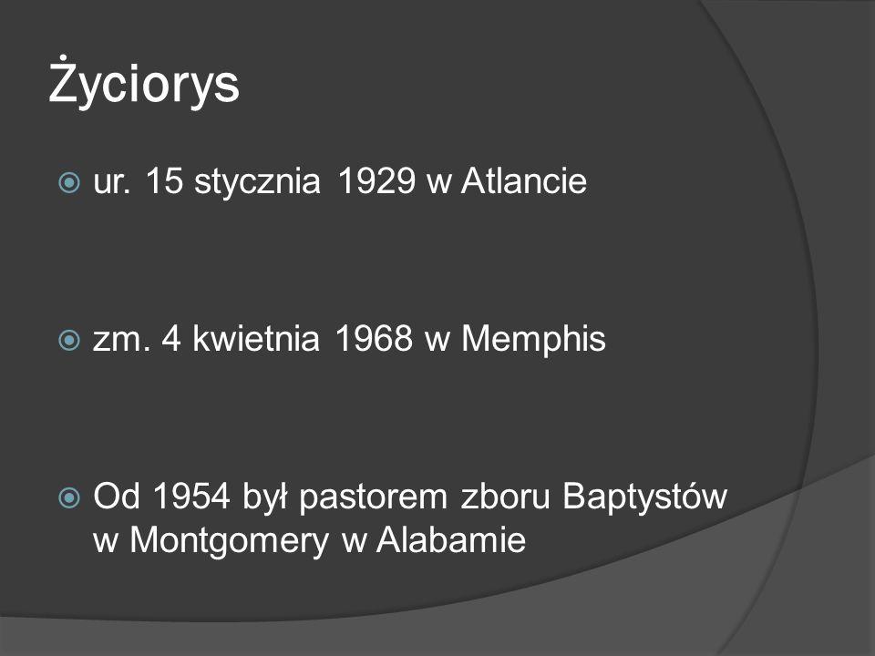 Życiorys ur. 15 stycznia 1929 w Atlancie zm. 4 kwietnia 1968 w Memphis Od 1954 był pastorem zboru Baptystów w Montgomery w Alabamie