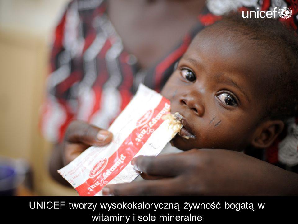 UNICEF tworzy wysokokaloryczną żywność bogatą w witaminy i sole mineralne