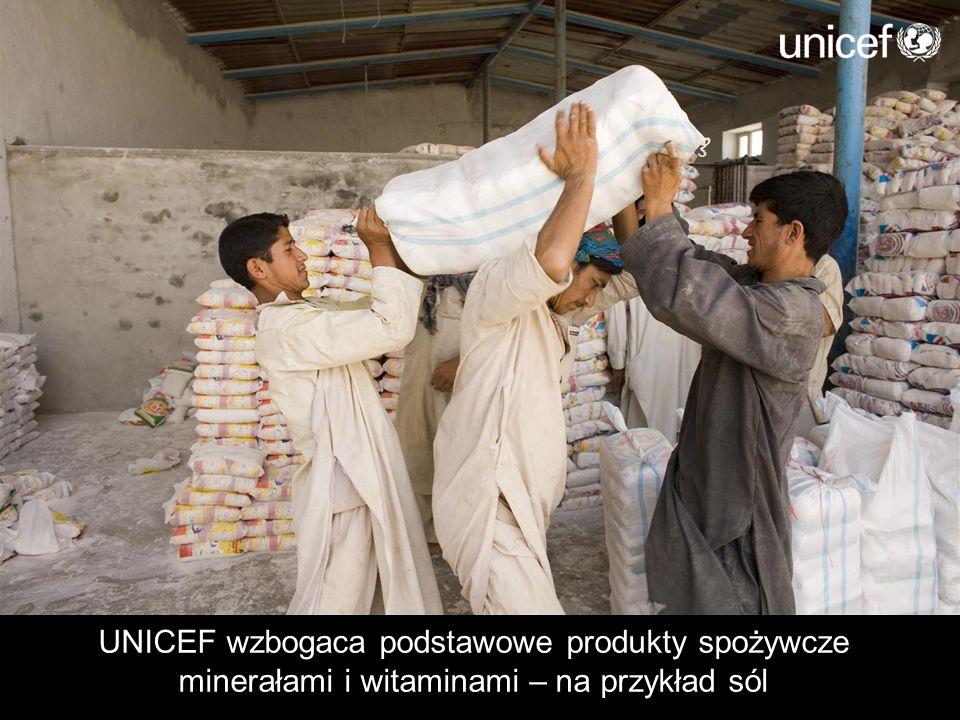 UNICEF wzbogaca podstawowe produkty spożywcze minerałami i witaminami – na przykład sól