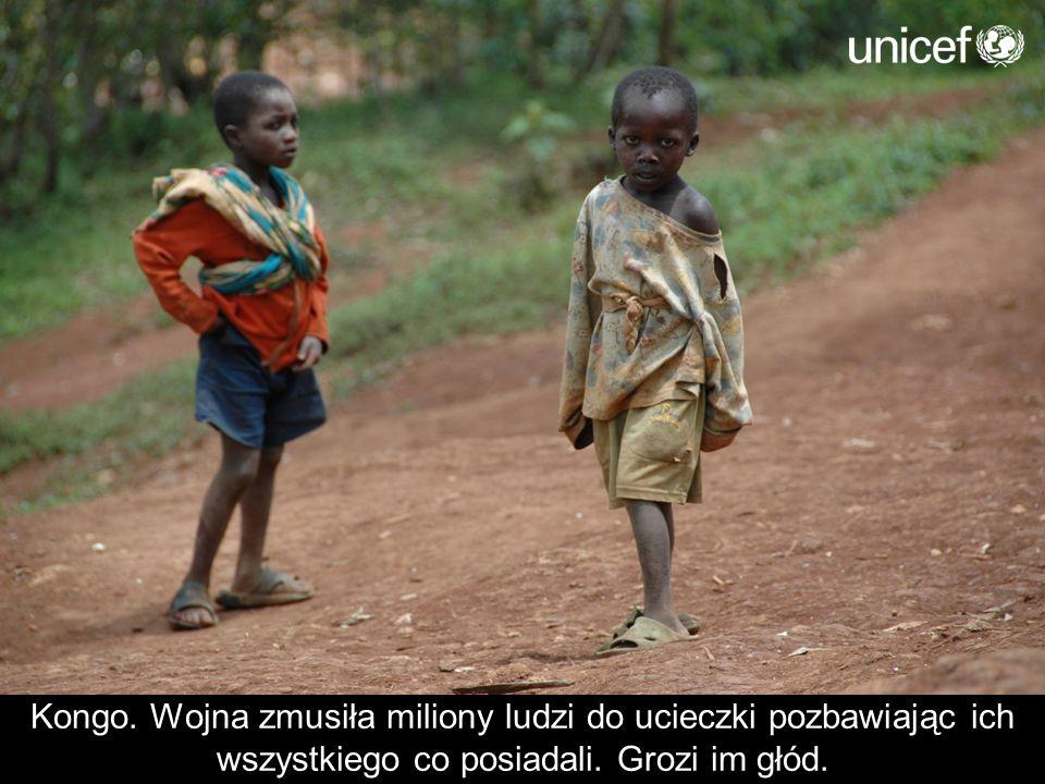 Kongo. Wojna zmusiła miliony ludzi do ucieczki pozbawiając ich wszystkiego co posiadali. Grozi im głód.
