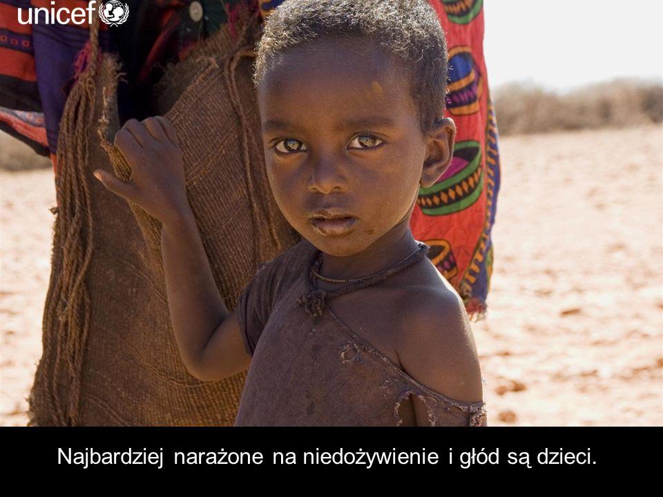 Najbardziej narażone na niedożywienie i głód są dzieci.