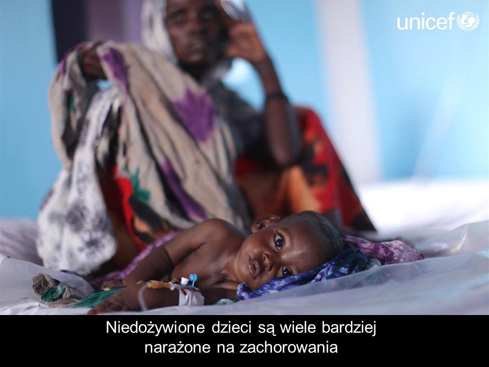 Nawet niegroźna choroba może spowodować śmierć wycieńczonego głodem dziecka