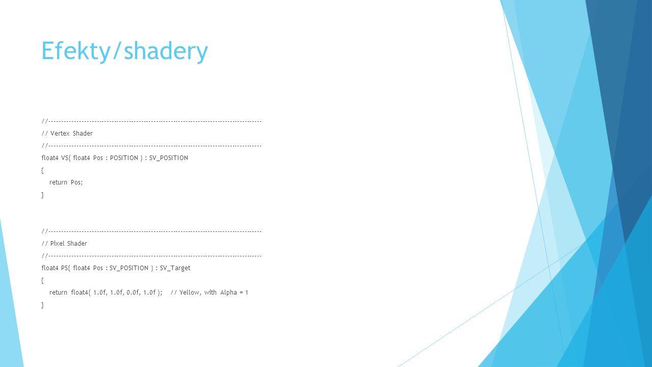 Efekty/shadery //-------------------------------------------------------------------------------------- // Vertex Shader //---------------------------
