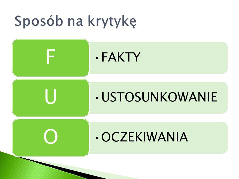 FAKTY F USTOSUNKOWANIE U OCZEKIWANIA O
