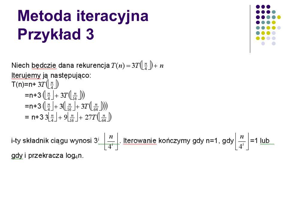 Metoda iteracyjna Przykład 3