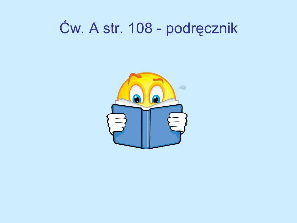 Praca domowa Zeszyt ćwiczeń – zad. 1 str.27