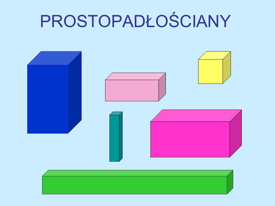 ZAPAMIĘTAJ! Prostopadłościan jest to figura przestrzenna, której wszystkie ściany są prostokątami.