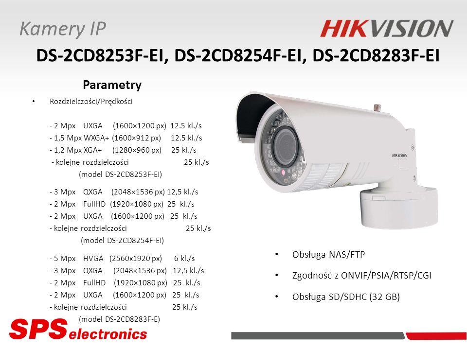 Rozdzielczości/Prędkości - 2 Mpx UXGA (1600×1200 px) 12.5 kl./s - 1,5 Mpx WXGA+ (1600×912 px) 12.5 kl./s - 1,2 Mpx XGA+ (1280×960 px) 25 kl./s - kolej