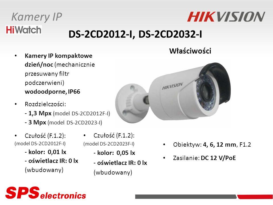 Kamery IP kompaktowe dzień/noc (mechanicznie przesuwany filtr podczerwieni) wodoodporne, IP66 Rozdzielczości: - 1,3 Mpx (model DS-2CD2012F-I) - 3 Mpx