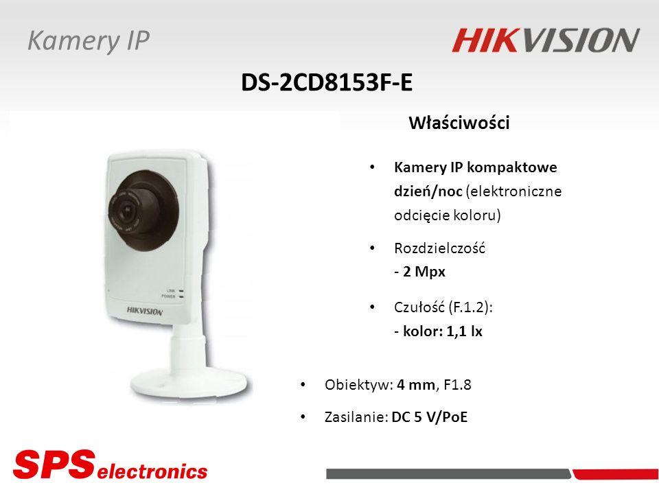 Kamery IP kompaktowe dzień/noc (elektroniczne odcięcie koloru) Rozdzielczość - 2 Mpx Czułość (F.1.2): - kolor: 1,1 lx DS-2CD8153F-E Właściwości Kamery