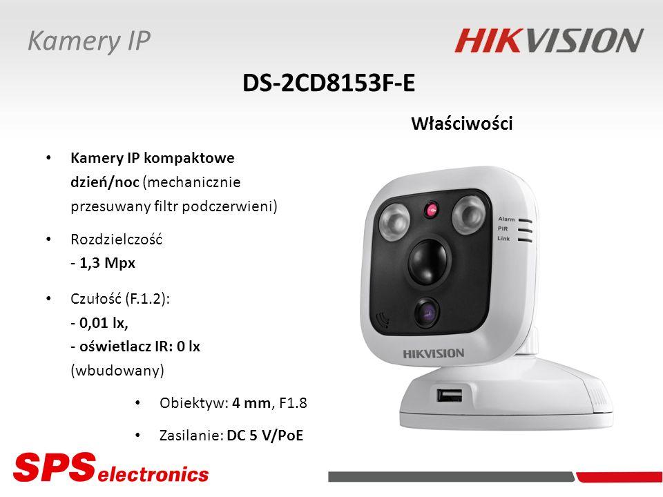 Kamery IP kompaktowe dzień/noc (mechanicznie przesuwany filtr podczerwieni) Rozdzielczość - 1,3 Mpx Czułość (F.1.2): - 0,01 lx, - oświetlacz IR: 0 lx