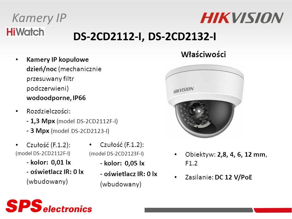 Kamery IP kopułowe dzień/noc (mechanicznie przesuwany filtr podczerwieni) wodoodporne, IP66 Rozdzielczości: - 1,3 Mpx (model DS-2CD2112F-I) - 3 Mpx (m