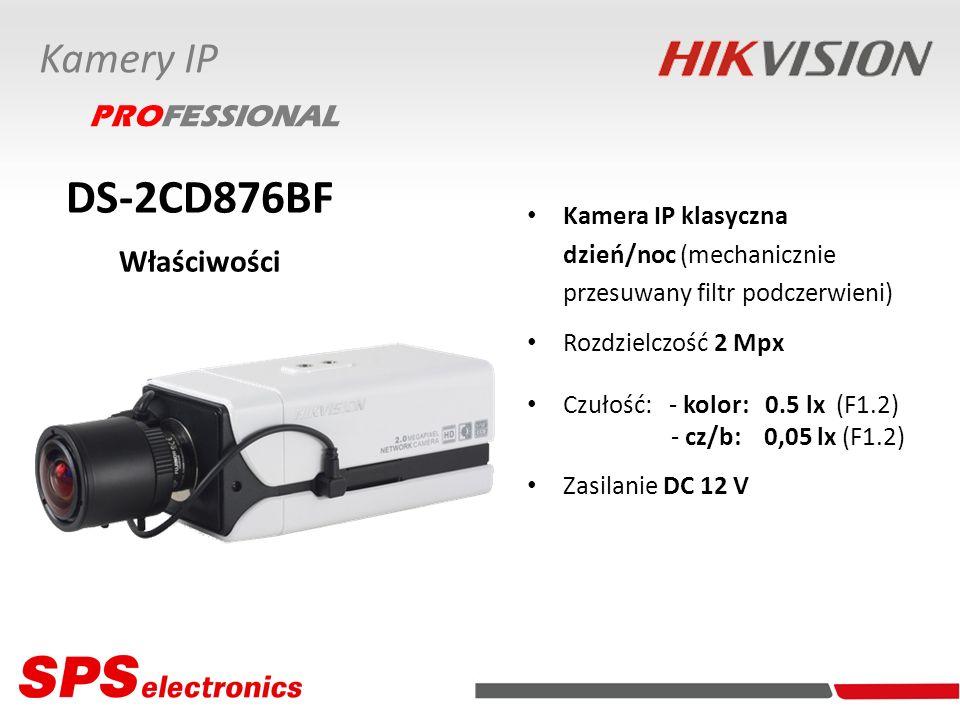 Kamera IP klasyczna dzień/noc (mechanicznie przesuwany filtr podczerwieni) Rozdzielczość 2 Mpx Czułość: - kolor: 0.5 lx (F1.2) - cz/b: 0,05 lx (F1.2)