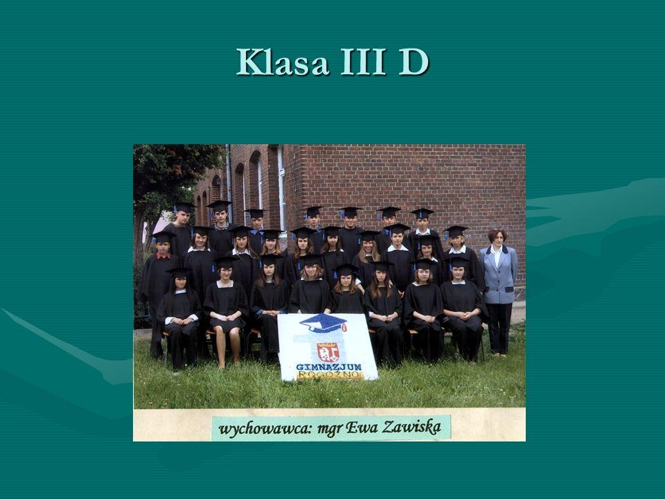 Klasa III D