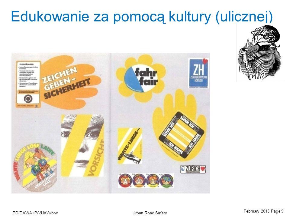 February 2013 Page 10 Urban Road SafetyPD/DAV/A+P/VUAW/brw Stałe kontrole policji