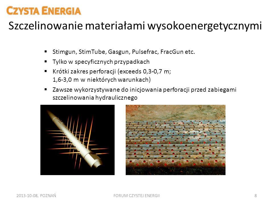 Szczelinowanie materiałami wysokoenergetycznymi 2013-10-08, POZNAŃFORUM CZYSTEJ ENERGII8 Stimgun, StimTube, Gasgun, Pulsefrac, FracGun etc. Tylko w sp