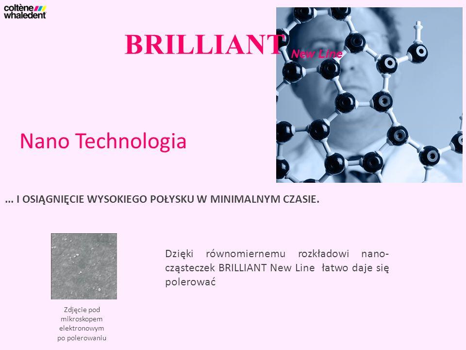 BRILLIANT New Line... I OSIĄGNIĘCIE WYSOKIEGO POŁYSKU W MINIMALNYM CZASIE. Nano Technologia Zdjęcie pod mikroskopem elektronowym po polerowaniu Dzięki