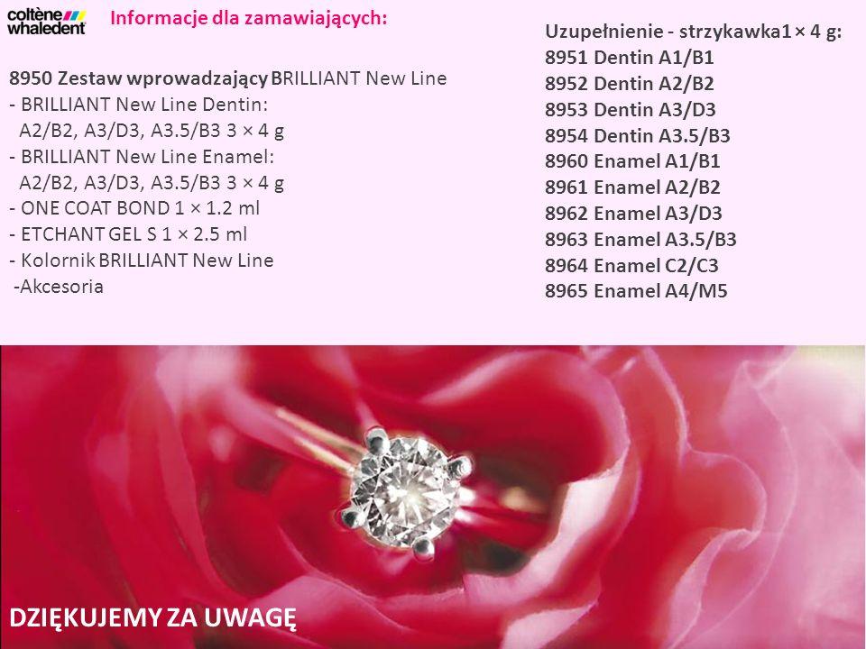 8950 Zestaw wprowadzający BRILLIANT New Line - BRILLIANT New Line Dentin: A2/B2, A3/D3, A3.5/B3 3 × 4 g - BRILLIANT New Line Enamel: A2/B2, A3/D3, A3.