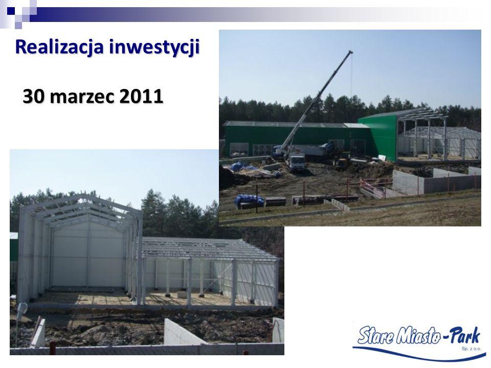 30 marzec 2011 Realizacja inwestycji