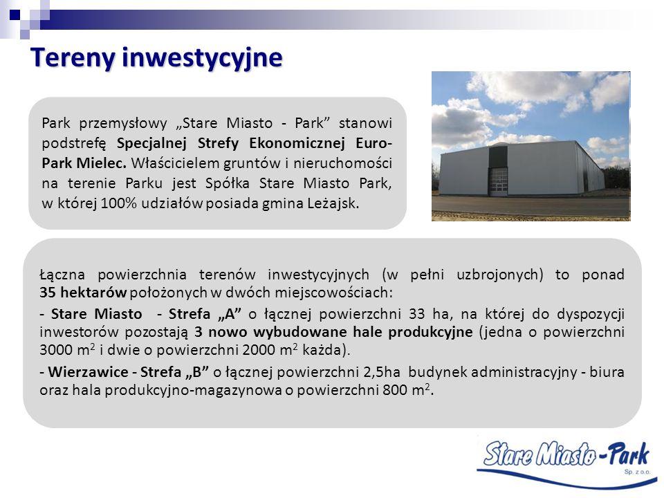 Tereny inwestycyjne Park przemysłowy Stare Miasto - Park stanowi podstrefę Specjalnej Strefy Ekonomicznej Euro- Park Mielec. Właścicielem gruntów i ni
