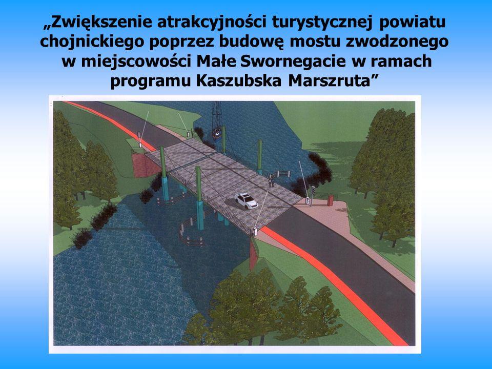 Zwiększenie atrakcyjności turystycznej powiatu chojnickiego poprzez budowę mostu zwodzonego w miejscowości Małe Swornegacie w ramach programu Kaszubsk