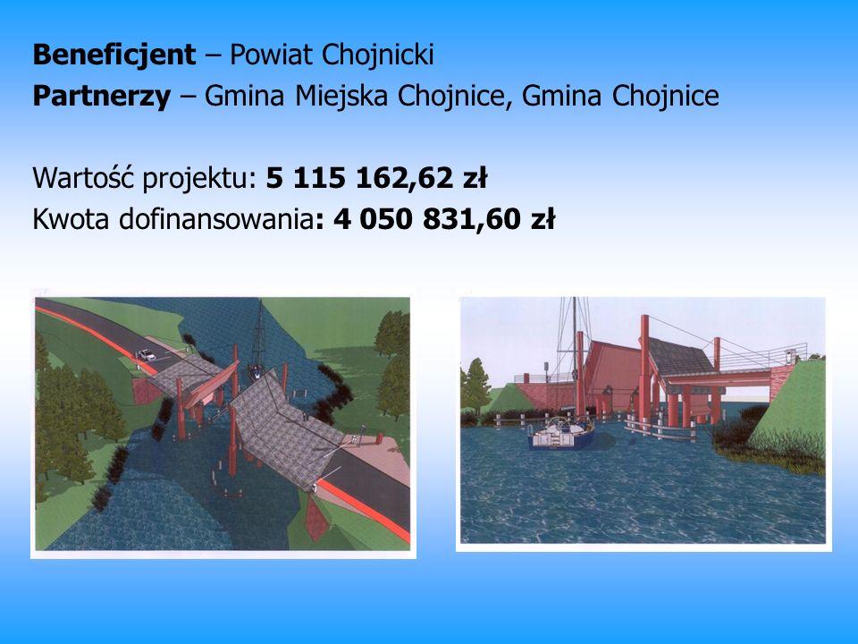 Beneficjent – Powiat Chojnicki Partnerzy – Gmina Miejska Chojnice, Gmina Chojnice Wartość projektu: 5 115 162,62 zł Kwota dofinansowania: 4 050 831,60