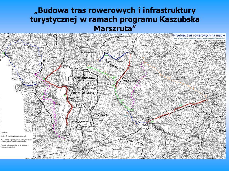 Budowa tras rowerowych i infrastruktury turystycznej w ramach programu Kaszubska Marszruta