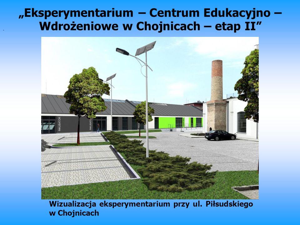 Eksperymentarium – Centrum Edukacyjno – Wdrożeniowe w Chojnicach – etap II Wizualizacja eksperymentarium przy ul. Piłsudskiego w Chojnicach