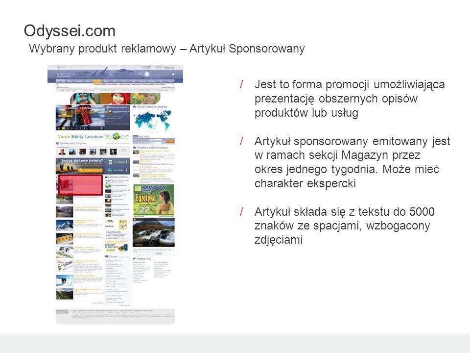 /Jest to forma promocji umożliwiająca prezentację obszernych opisów produktów lub usług /Artykuł sponsorowany emitowany jest w ramach sekcji Magazyn przez okres jednego tygodnia.