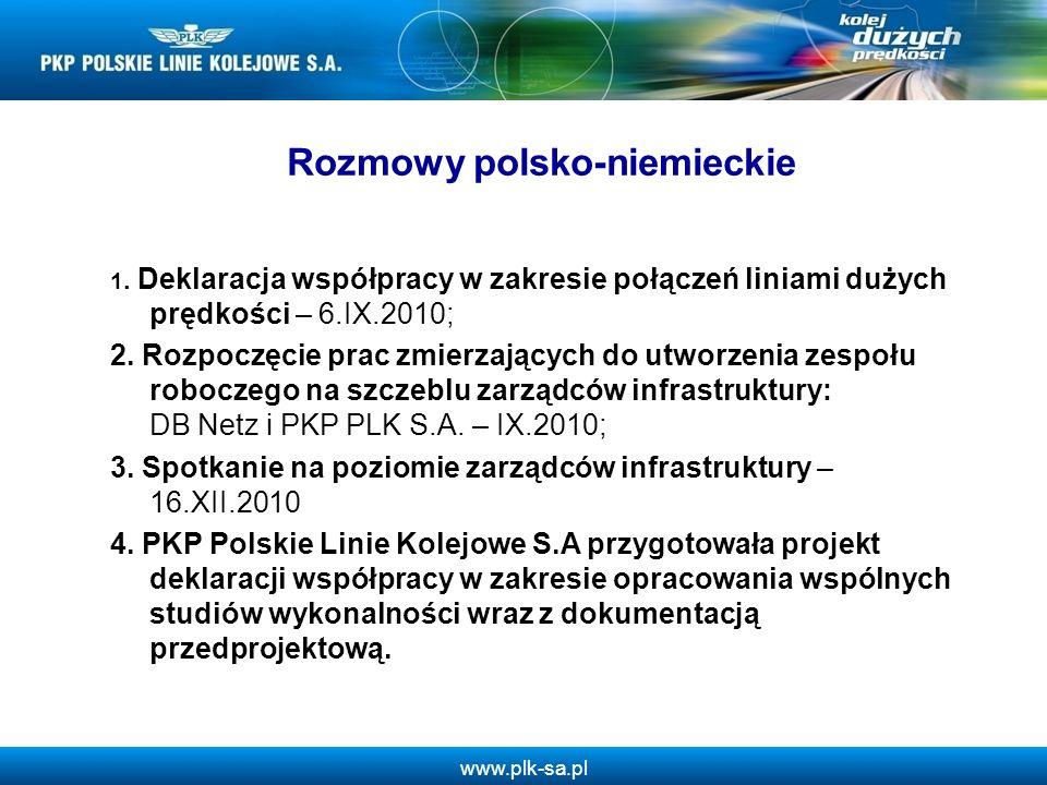 www.plk-sa.pl Rozmowy polsko-niemieckie 1.