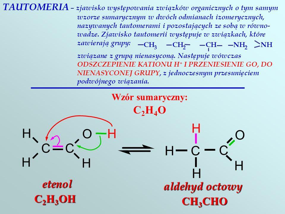 METAMERIA – izomeria strukturalna, polegająca na występowanuiu dwóch lub więcej związków o tym samym składzie chemicznym lecz różniących się GRUPĄ FUN