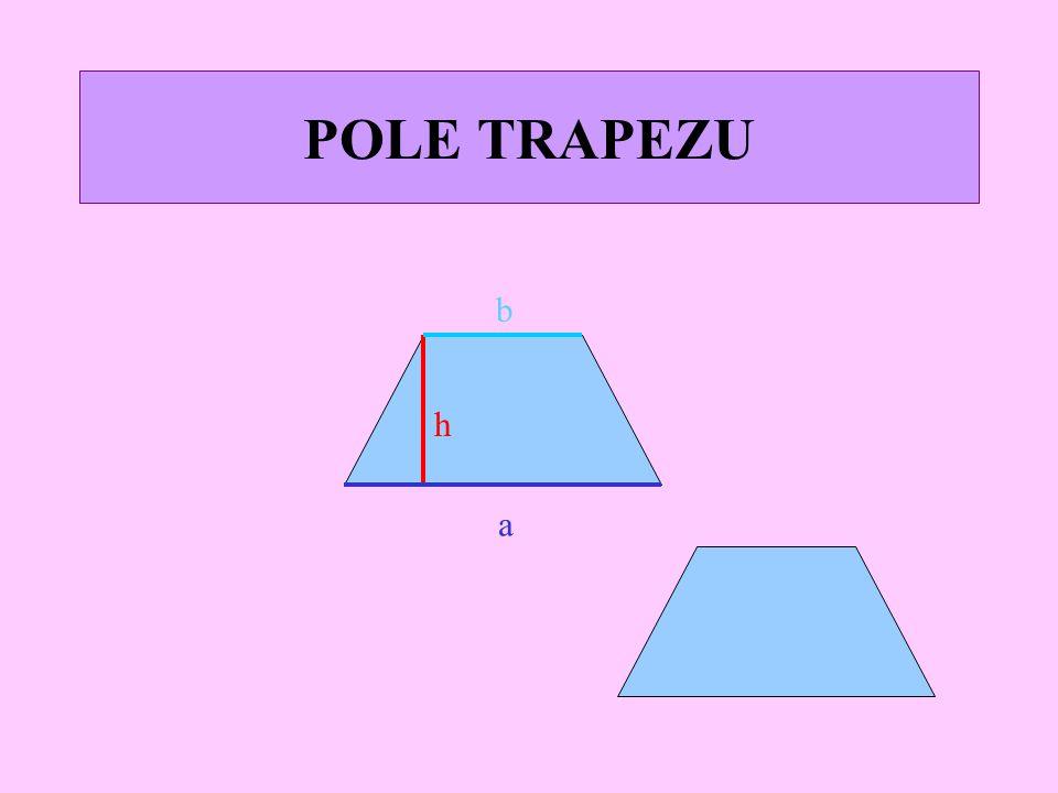 POLE TRÓJKĄTA a h Pole dwóch identycznych trójkątów równe jest polu prostokąta o bokach a i h.