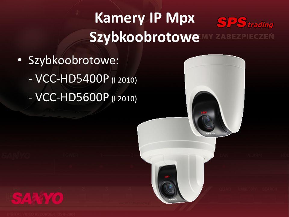 Kamery IP Mpx Szybkoobrotowe Szybkoobrotowe: - VCC-HD5400P (I 2010) - VCC-HD5600P (I 2010)