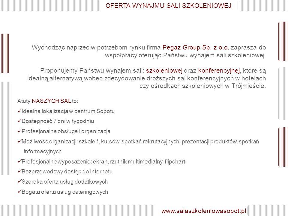 Wychodząc naprzeciw potrzebom rynku firma Pegaz Group Sp.