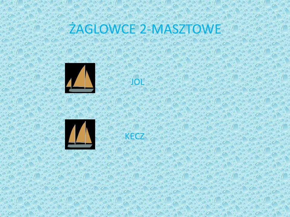ŻAGLOWCE 2-MASZTOWE JOL KECZ
